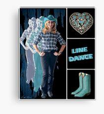 Dance series - Line Dance Leinwanddruck