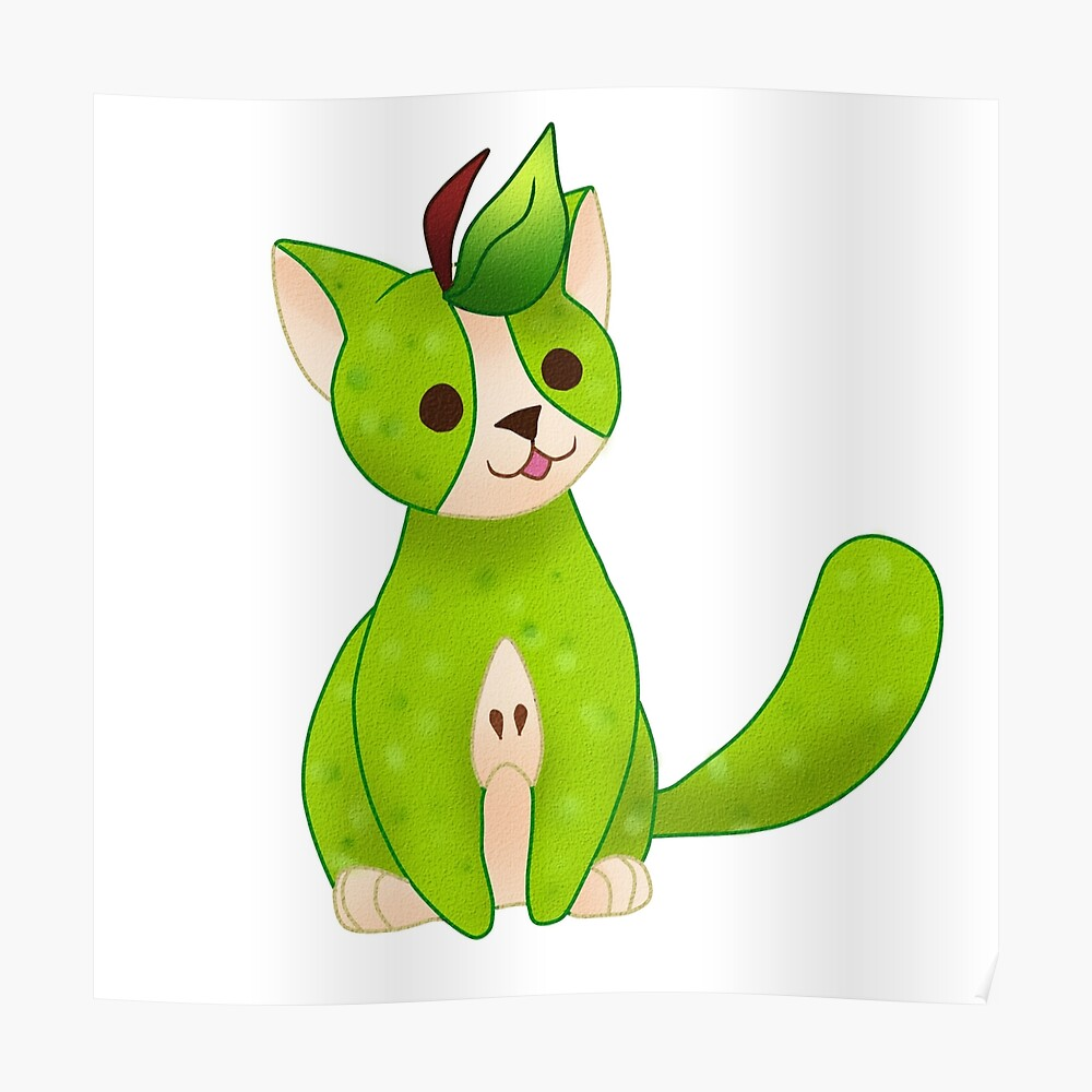 "FRUIT CATS: Green Pear Cat"" Art Print by GreysRainbow 