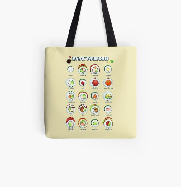 Cute Smiling Sushi Travel Lightweight Storage Carry Luggage Duffle Tote Bag