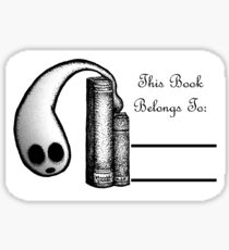 This Book Belongs To ~ Ghost Sticker