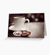 ♥ chocolate Greeting Card