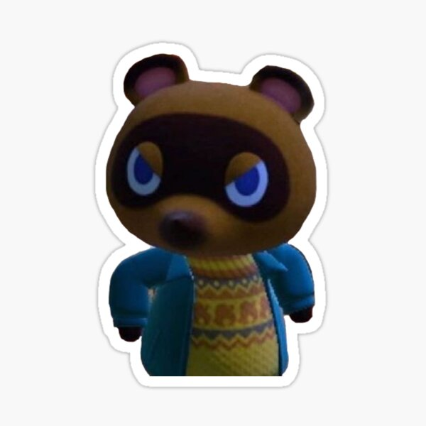 angry tom nook Sticker