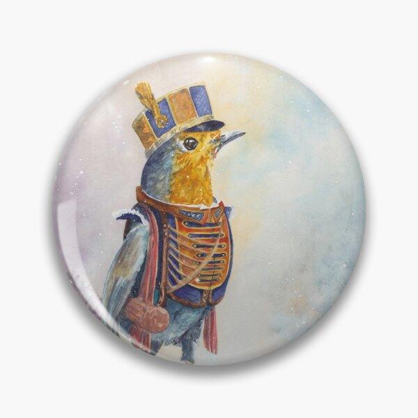 Archibald the Ranger Robin Watercolor Pin