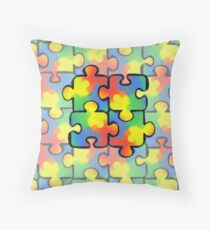 Autism Awareness Pattern 1 Throw Pillow