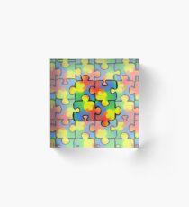Autism Awareness Pattern 1 Acrylic Block