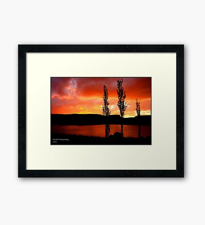 Kwantani, sunset Framed Print