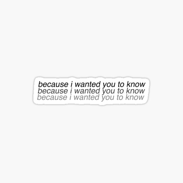 if you only knew how little i know about the things that really matter Sticker