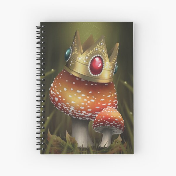Toadstool Crown Spiral Notebook