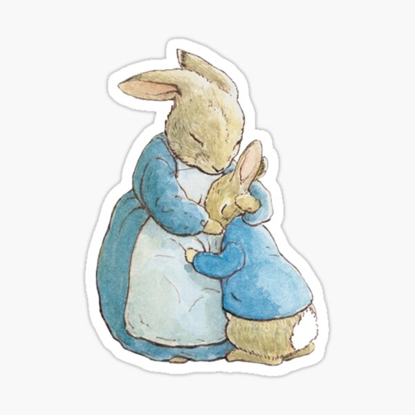 Peter Rabbit and his mother  Sticker