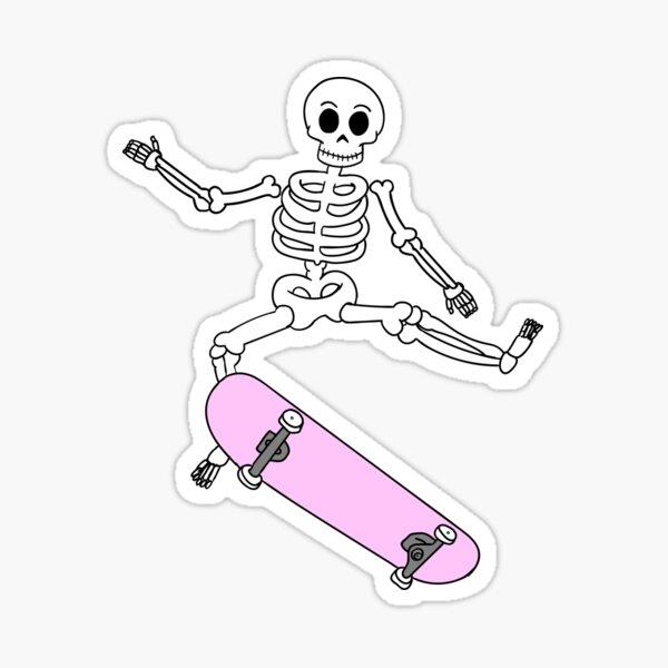 Skateboarding Skater Skate Board Skeleton Felpa