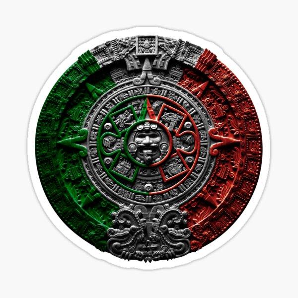 aztec calendar mexico chicano Sticker