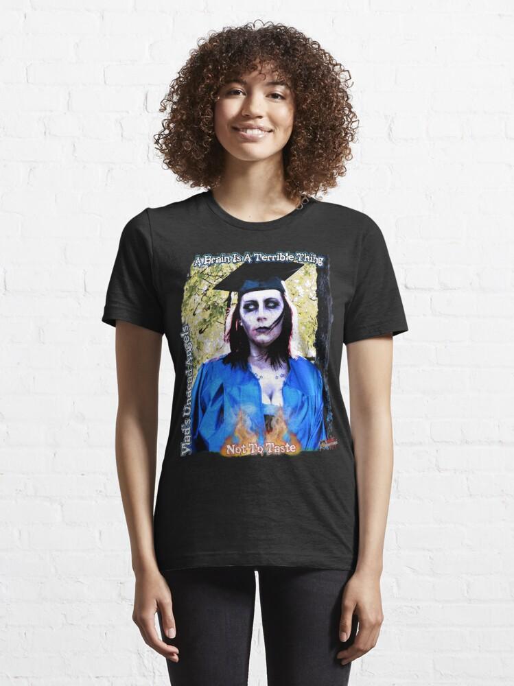 Alternate view of Live Undead Angels: Zombie Graduate Essential T-Shirt