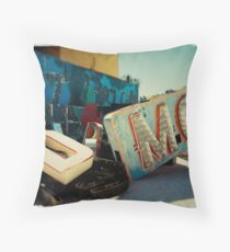 Neon Motel Throw Pillow