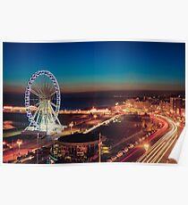 Brighton CityScape at Night II Poster