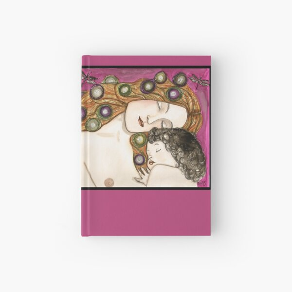'Mother and child' my version of Klimt Hardcover Journal