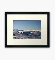 Ptarmigan & beyond, Cairngorm & Monadhliath Framed Print