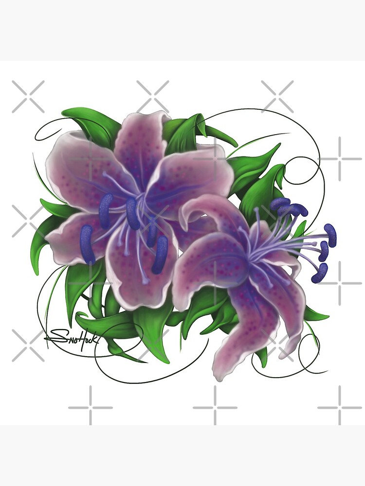 Twisted Purple Lillies by snohock