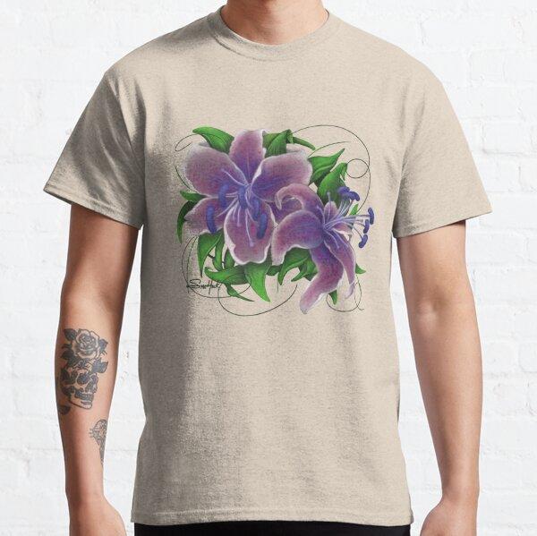 Twisted Purple Lillies Classic T-Shirt