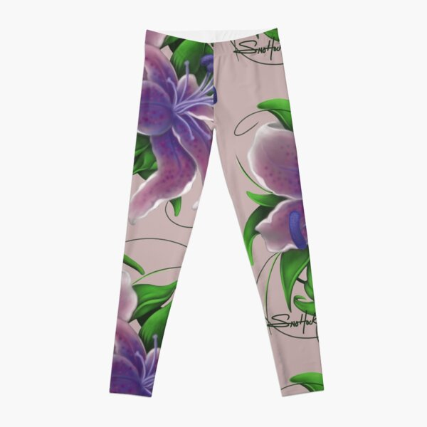Twisted Purple Lillies Leggings