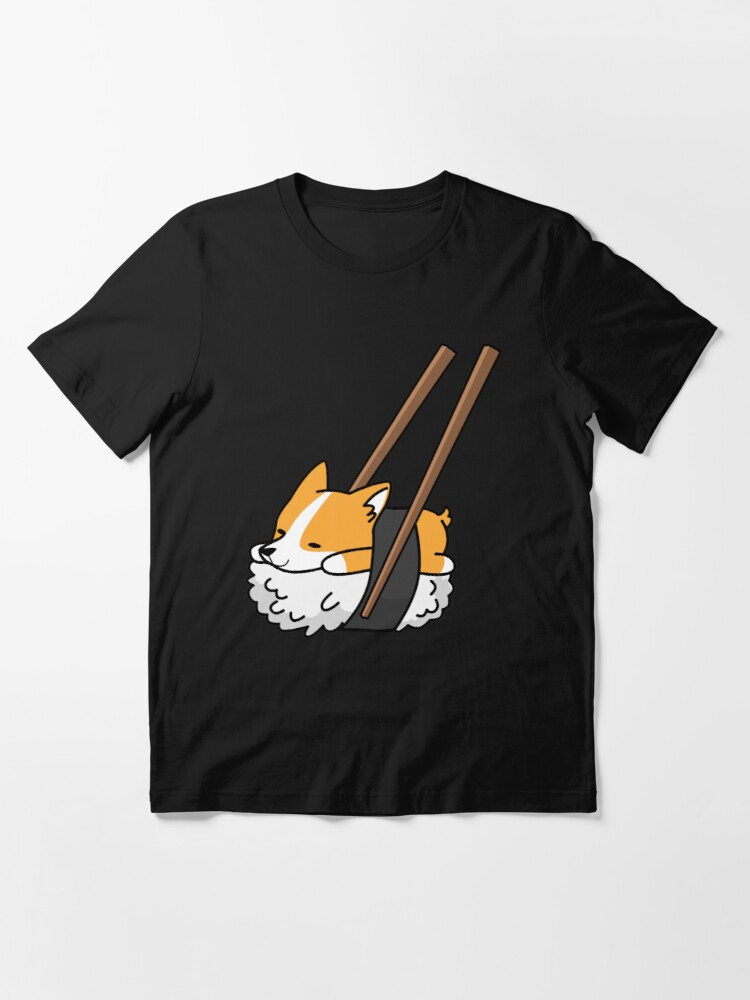 Alternate view of Funny Sushi Corgi Essential T-Shirt