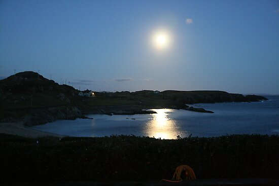 Moon rising over Crookhaven by noelj55
