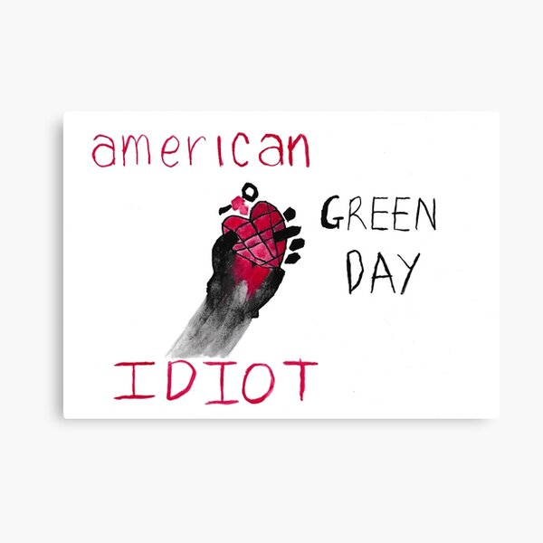 Green Day American Idiot 2004 Album Cover Stretched Canvas Wall Art Poster Print