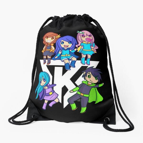 Funneh and the Krew Cartoon Drawstring Bag