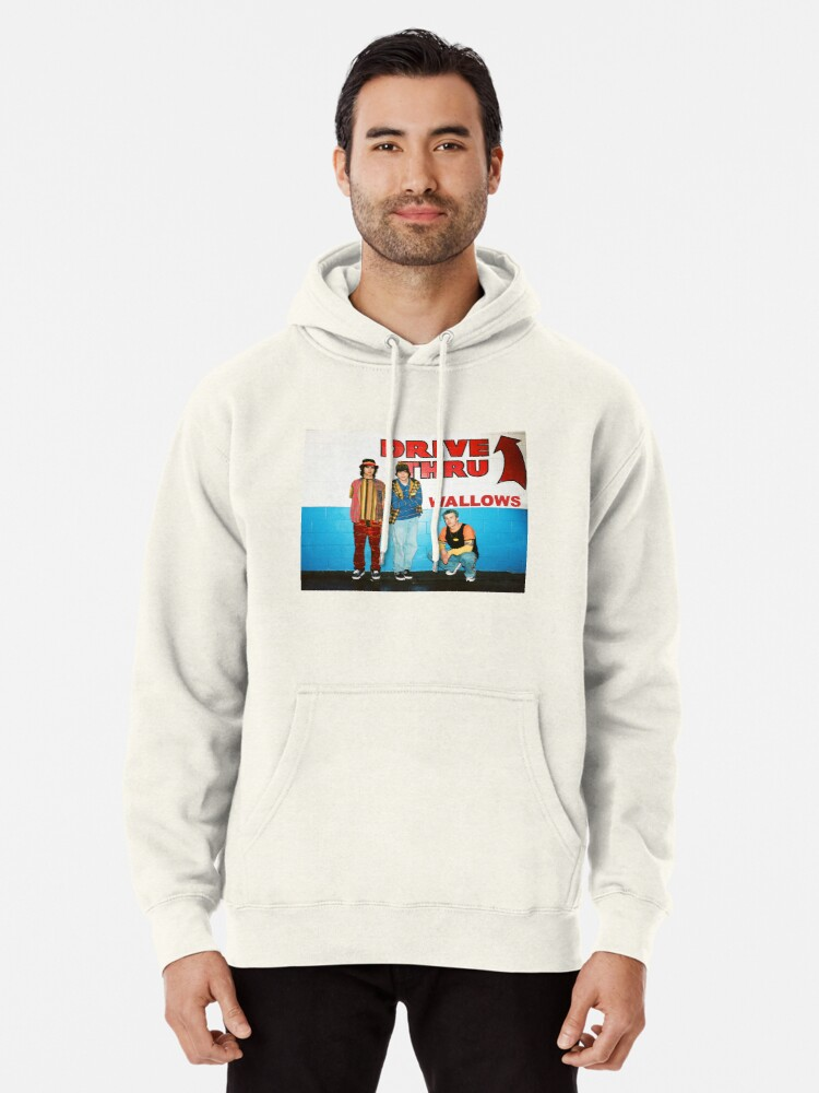 Alternate view of wallows drive thru Pullover Hoodie
