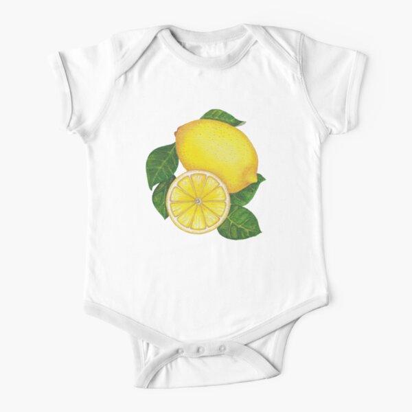 Lemons Watercolor Vibrant Art Short Sleeve Baby One-Piece