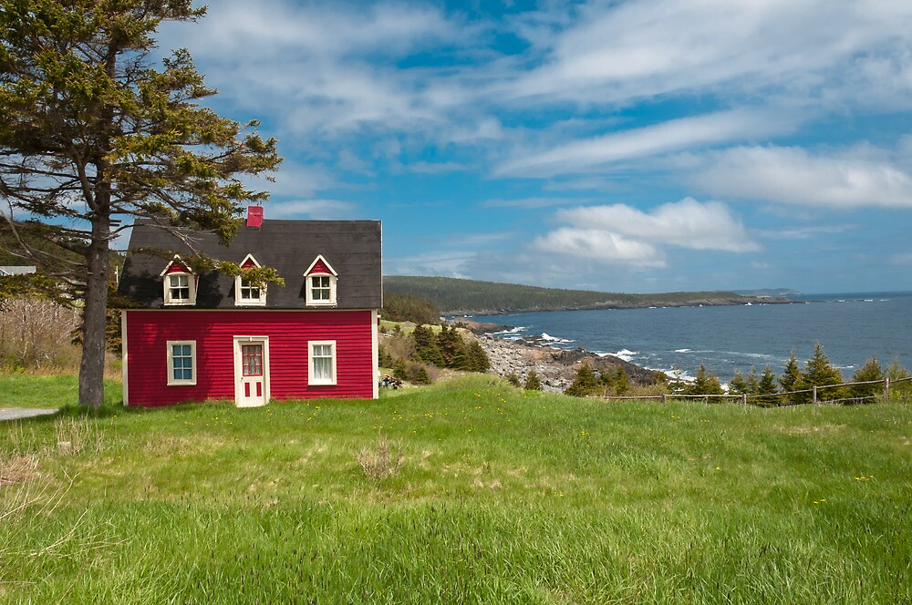 Salt Box House Witless Bay Newfoundland By Rirving