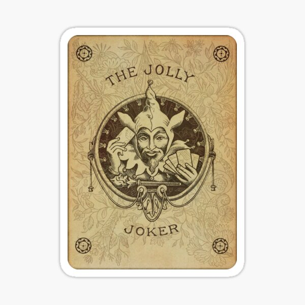 Joker playing card.  Sticker