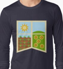 Earth Banner Long Sleeve T-Shirt