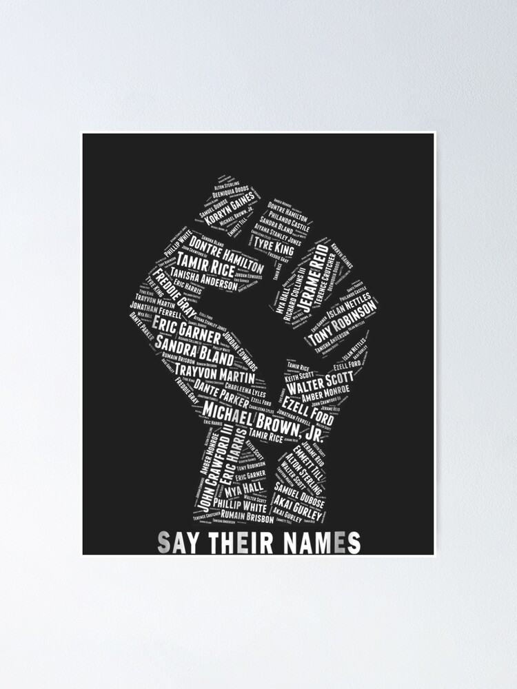 Alternate view of Say Their Names: Black Lives Matter Poster
