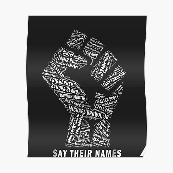 Say Their Names: Black Lives Matter Poster