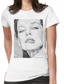 Milla Jovovich Womens Fitted T-Shirt