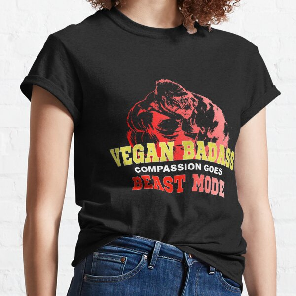Vegan Gorilla Badass Bodybuilder Classic T-Shirt