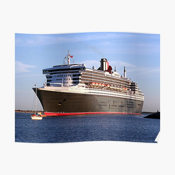 Queen Mary 2 cruise ship Poster