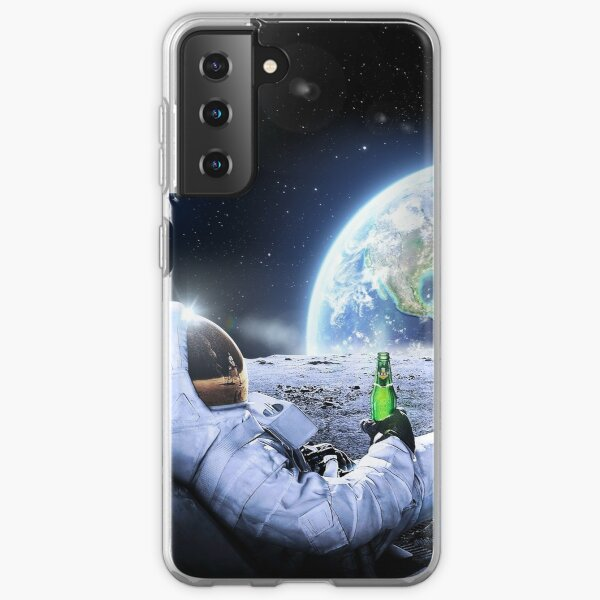 Astronaut on the Moon with beer ⛔ HQ-quality, BESTSELLER Samsung Galaxy Soft Case