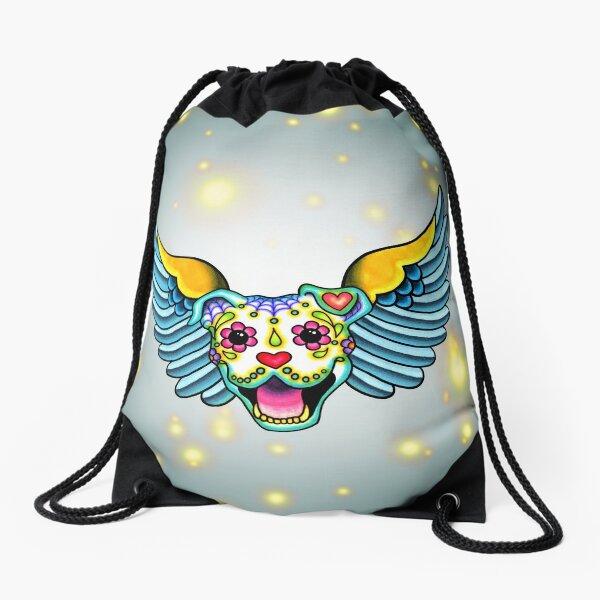 All Pit Bulls go to Heaven Drawstring Bag
