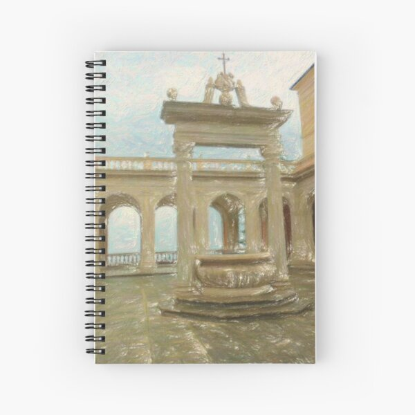 Fontana del monastero Spiral Notebook