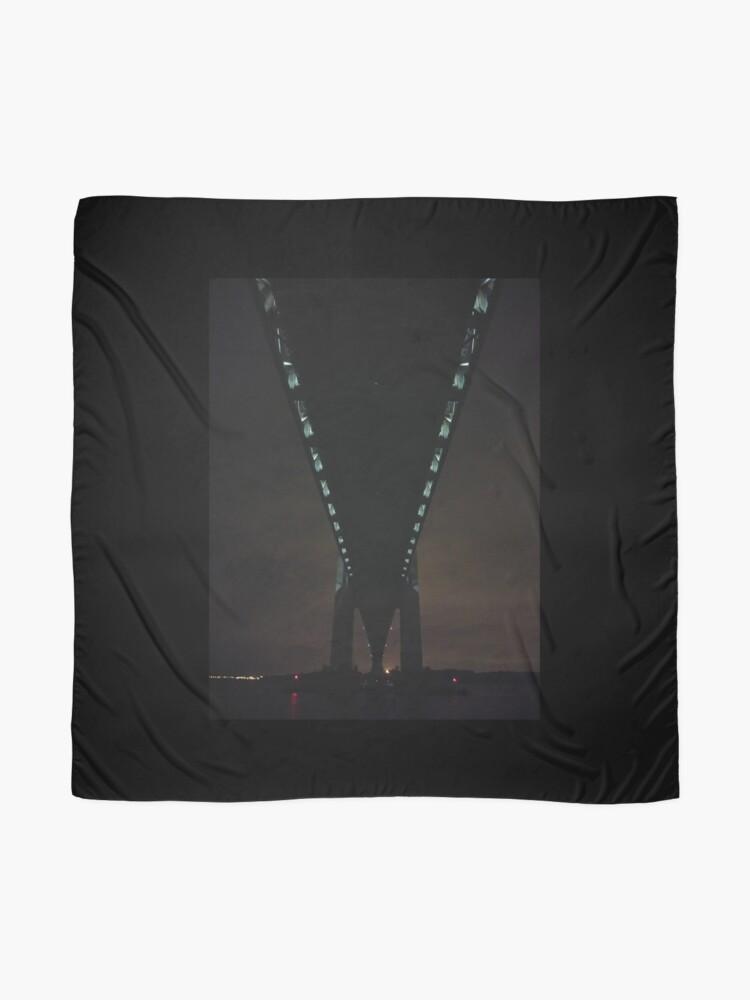 Alternate view of Verrazano Narrows Bridge, #Verrazano, #Narrows, #Bridge, #VerrazanoNarrowsBridge, #VerrazanoBridge, #NewYorkCity, #NewYork, #Brooklyn, #StatenIsland Scarf