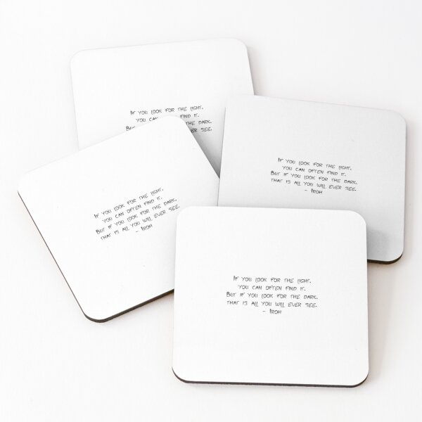 Iroh quote - Avatar the last airbender Coasters (Set of 4)
