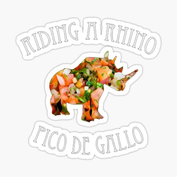 Dance Gavin Dance Riding A Rhino Pico De Gallo Sticker