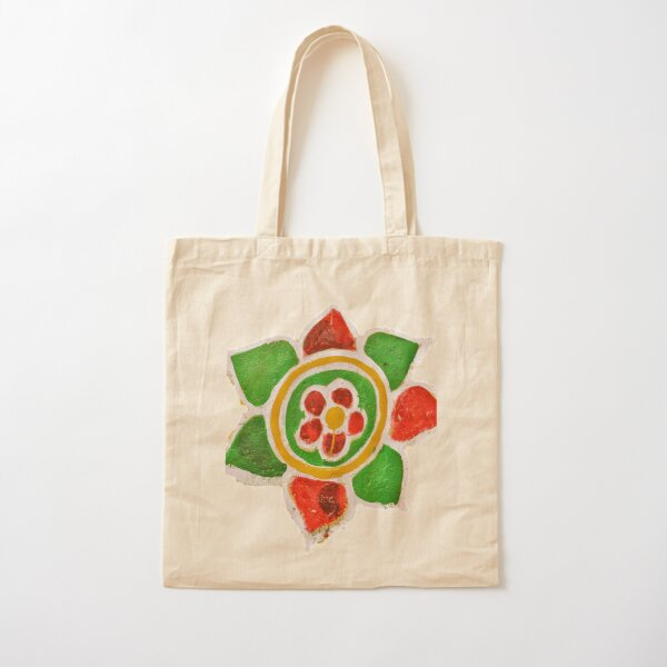 Indian Street Flower Cotton Tote Bag