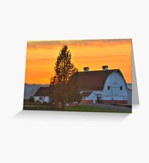 Red and White Barn Greeting Card