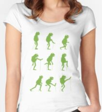 Ministry of Silly Muppet Walks Women's Fitted Scoop T-Shirt