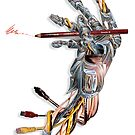 Drawing Robot Hand by Roger Hodkinson