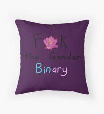 F*k the Gender Binary Throw Pillow
