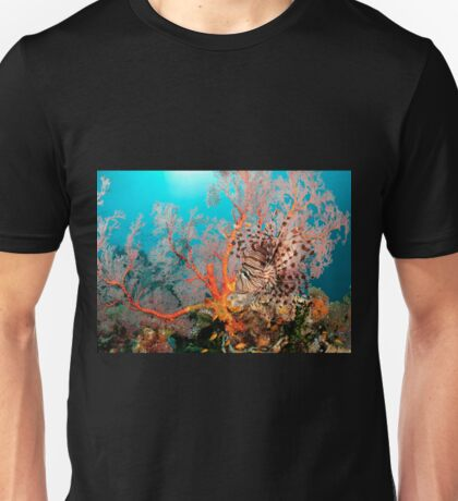 Lionfish on a coral bommie, Papua New Guinea T-Shirt