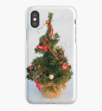 Christmas Tree on Snow iPhone Case/Skin